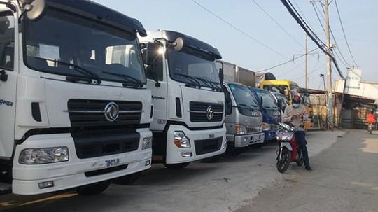 Xe tải nặng nhập khẩu từ Trung Quốc trưng bày tại Công ty Phú Cường (huyện Bình Chánh, TP HCM) - Ảnh: L.Nam