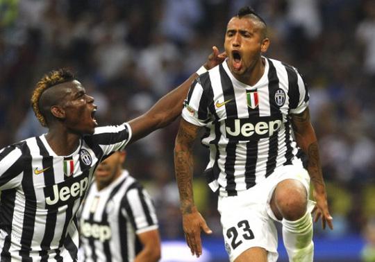 Pogba và Vidal của Juventus đã giành chức vô địch Serie A mùa này nhưng trận gặp Napoli vẫn sẽ hâp dẫn