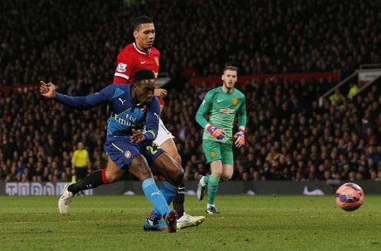 Từng bị hắt hủi ở Old Trafford dưới thời Van Gaal nhưng chính Welbeck lại tỏa sáng giúp Arsenal loại M.U khỏi cúp FA