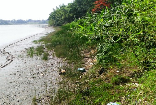 Thi thể người đàn ông đã phân hủy trôi dạt vào bờ sông Mã