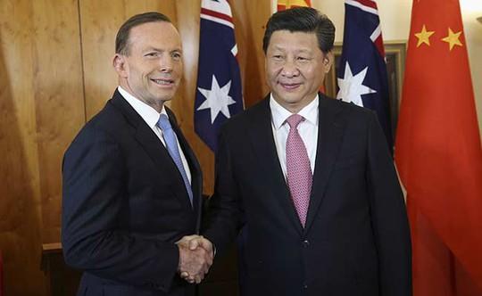 Thủ tướng Úc Tony Abbott và Chủ tịch Trung Quốc Tập Cận Bình. Ảnh: Reuters