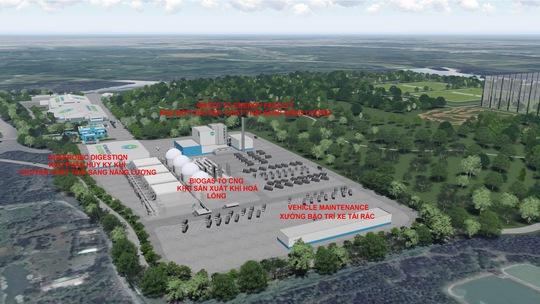 Mô hình Dự án nhà máy đốt rác để sản xuất năng lượng sạch tại Khu Liên hợp Đa Phước