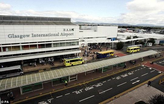 Sân bay quốc tế Glasgow. Ảnh: AP