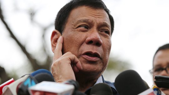Tổng thống Philippines Rodrigo Duterte. Ảnh: NPR