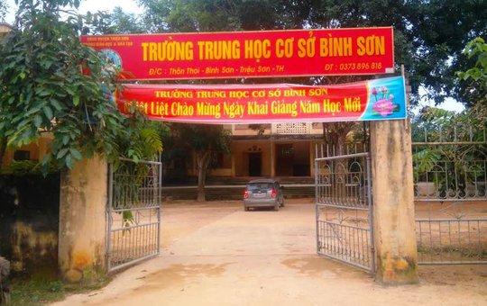 Ngôi trường nơi ông Nguyễn Thế Sơn đang làm Phó hiệu trưởng