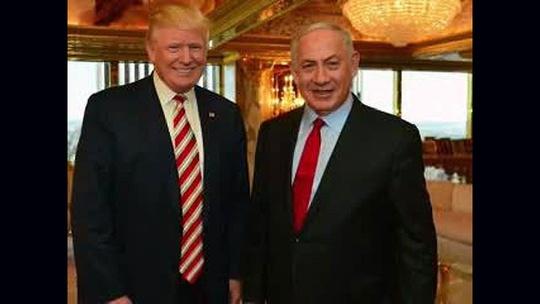 Ông Trump (trái) gặp thủ tướng Netanyahu ngày 25-9. Ảnh: CNN