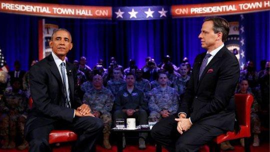 Tổng thống Obama (trái) có gắng thuyết phục các thành viên Quốc hội không bỏ phiếu cho JASTA. Ảnh: REUTERS