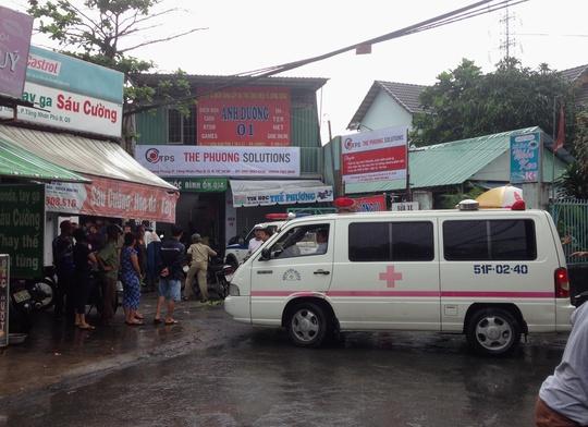 Xe cứu thương được huy động đến hiện trường