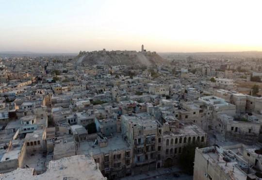 TP Aleppo nhìn từ trên cao. Ảnh: REUTERS