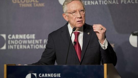 Lãnh đạo phe thiểu số tại Thượng viện Harry Reid. Ảnh: AP