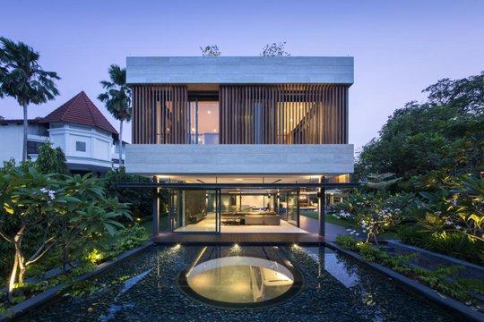 Ngôi nhà xanh mát với rất nhiều cây xanh xen lẫn không gian sống