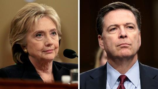 Bà Clinton (trái) và ông Comey. Ảnh: THE HILL