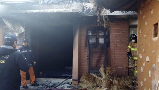 Nơi sinh của cha bà Park bị đốt. Ảnh: YONHAP