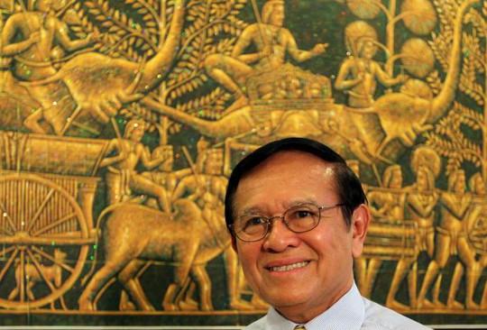 Thủ lĩnh đảng Cứu nguy Dân tộc Campuchia (CNRP) đối lập Kem Sokha. Ảnh: REUTERS