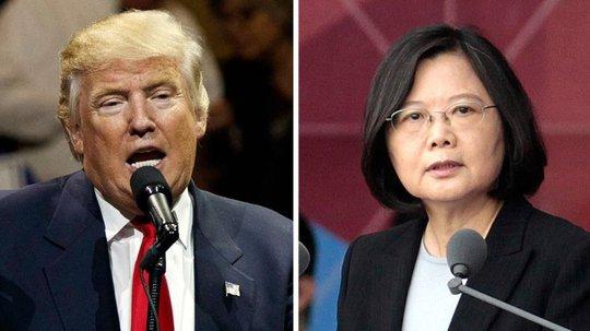 Ông Trump và bà Thái Anh Văn. Ảnh: AP