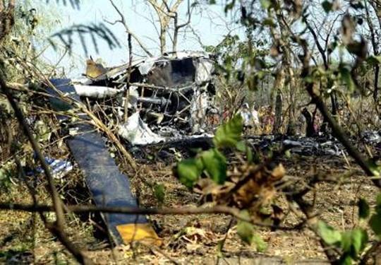 Chiếc trực thăng rơi hôm 11-12. Ảnh: TIMES OF INDIA