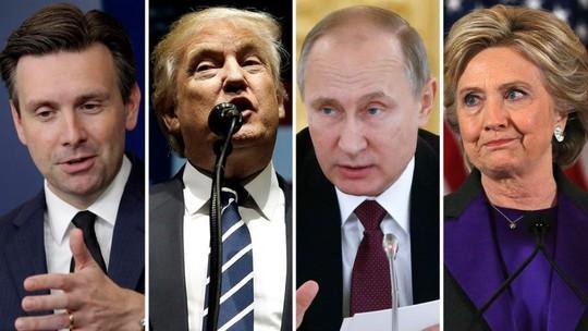 Từ phải qua: Bà Clinton, ông Putin và ông Trump. Ảnh: FOX NEWS