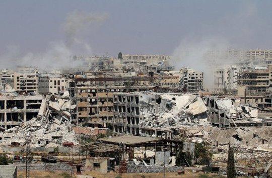 Aleppo hoang tàn và đổ nát sau cuộc chiến khốc liệt. Ảnh: BOOKS AS WEAPONS
