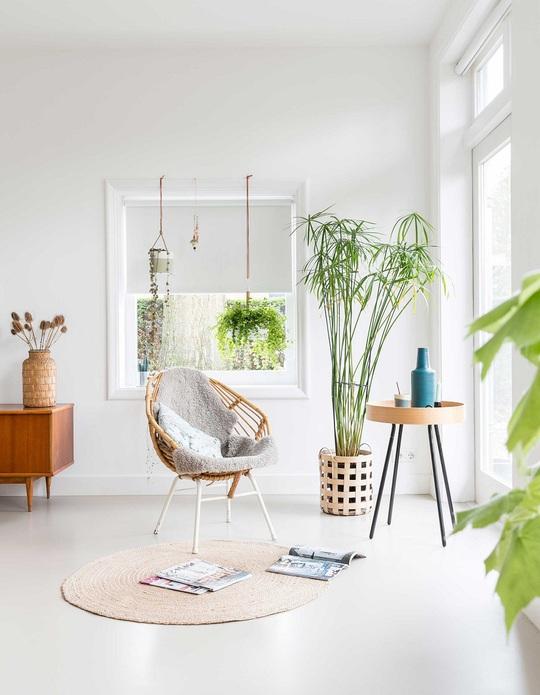 Đồ nội thất dệt được chủ nhân ngôi nhà sử dụng ở gần như khắp mọi nơi.