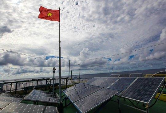 Hệ thống điện mặt trời tại Trường Sa Ảnh: NGỌC TUẤN