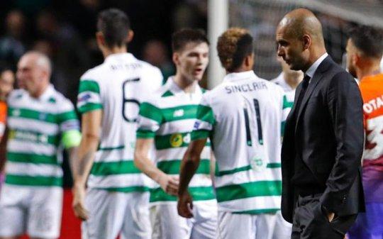 Pep Gaurdiola không hài lòng với tỉ số hòa trước Celtic