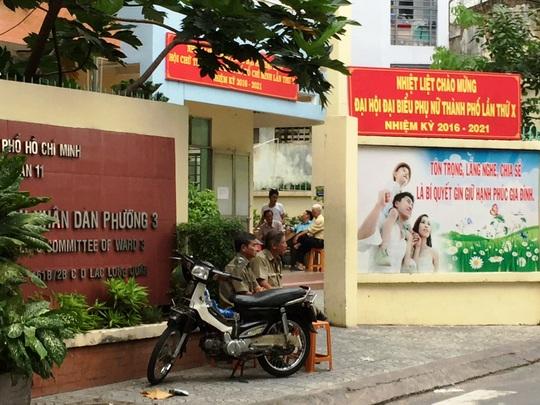 Trụ sở UBND phường 3 (quận 11) nơi phát hiện ông Vũ tử vong trong phòng làm việc