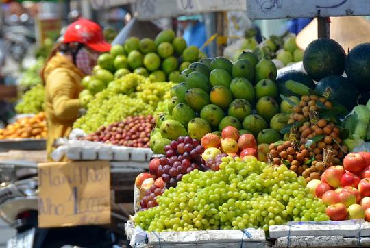 Đủ loại trái cây ngoại được bày bán với số lượng ngày càng tăng Ảnh: TẤN THẠNH