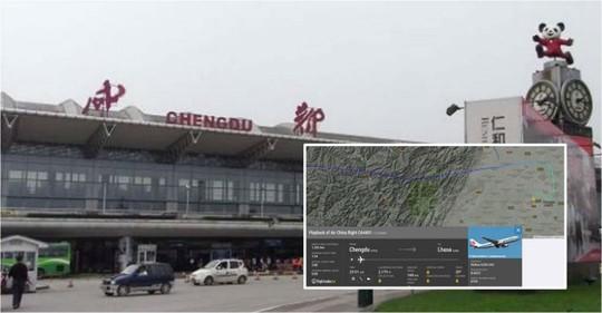 Chuyến bay CA4401 cất cánh từ sân bay bay quốc tế Song Lưu Thành Đô. Ảnh: Flightradar24