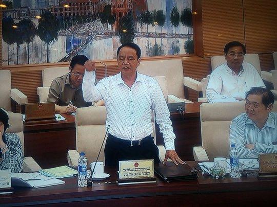 Ông Võ Trọng Việt cho rằng cán bộ làm công tác giải quyết khiếu nại, tố cáo cần dũng cảm, kiềm chế - Ảnh chụp qua màn hình