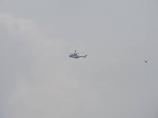 Máy bay đang tìm kiếm khu vực núi Dinh