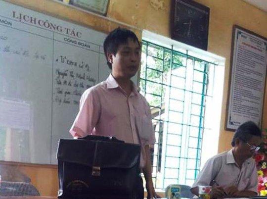 Thầy Nguyễn Quý Cầu thừa nhận có tát, đá học sinh do quá nóng giận.