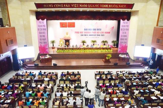 Toàn cảnh Đại hội đại biểu Phụ nữ TP HCM lần thứ X nhiệm kỳ 2016-2021. Ảnh: Bảo Nghi