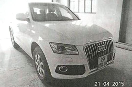Hình ảnh chiếc xe Audi đi đăng kiểm mang BKS 35A-051.18 (Hình ảnh Trung tâm đăng kiểm cung cấp)