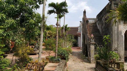 Khuôn viên chùa Mễ Sở nơi bị mất pho tượng-ảnh: CTV