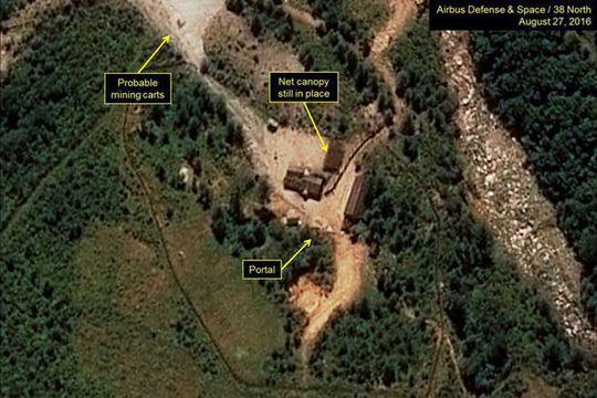 Bình Nhưỡng đang tăng cường các hoạt động tại bãi thử hạt nhân chính Punggye-ri. Ảnh: 38 NORTH