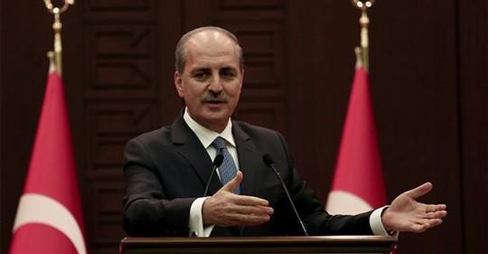 Phó Thủ tướng Thổ Nhĩ Kỳ Numan Kurtulmus. Ảnh: AA