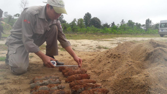 Số bom đạn được đội rà phá bom mìn lưu động của tỉnh Quảng Trị hủy nổ