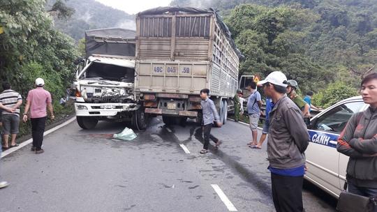 Đèo Bảo Lộc (Lâm Đồng) thường xuyên xảy ra tai nạn giao thông hết sức nghiêm trọng (hiện trường vụ 2 xe tải tông nhau cách đây gần 1 tháng).