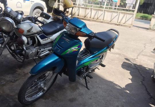Chiếc xe máy công an thu giữ từ vụ trộm