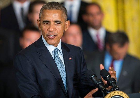Ông Obama khẳng định ông Trump không đủ năng lực trở thành tổng thống Mỹ. Ảnh: The New York Times