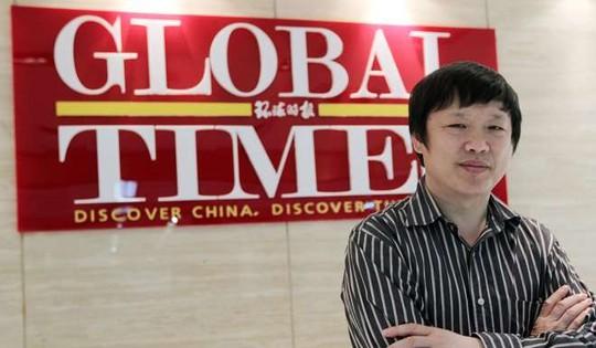 Tổng biên tập tờ Thời báo Hoàn cầu, ông Hồ Tích Tiến. Ảnh: Simon Song