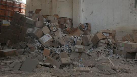 Chuyên gia LHQ: Đoàn xe viện trợ của họ bị không kích. Ảnh: REUTERS