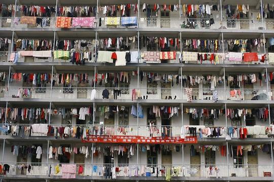 Một ký túc xá đại học ở tình Hồ Bắc. Ảnh: Daily Mail