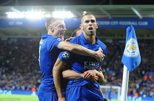 Slimani tỏa sáng, Leicester đánh bại Porto