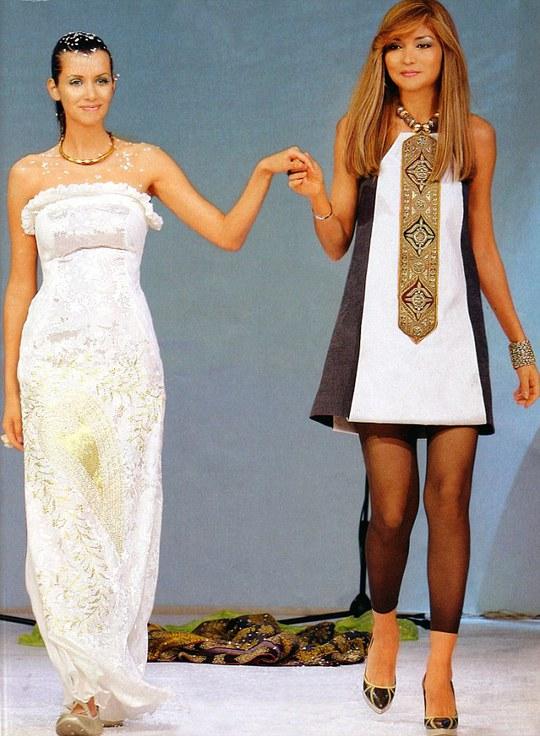 Cô Karimova trong một buổi biểu diễn thời trang ở Pháp. Ảnh: Daily Mail