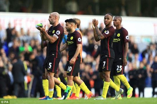 Thất bại đầu tiên của Man City ở Premier League mùa này