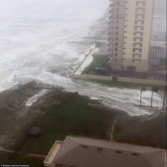 Nước biển tràn vào TP Jacksonvile, bang Florida. Ảnh: Facebook