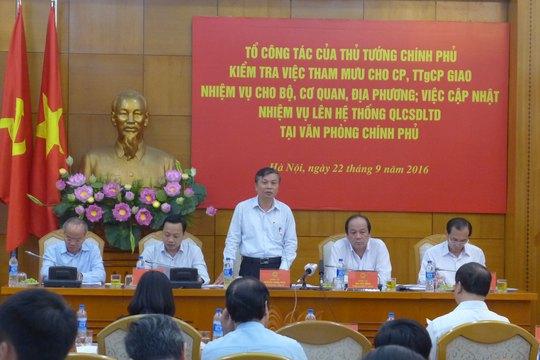 Tổ công tác của Thủ tướng làm việc với Văn phòng Chính phủ