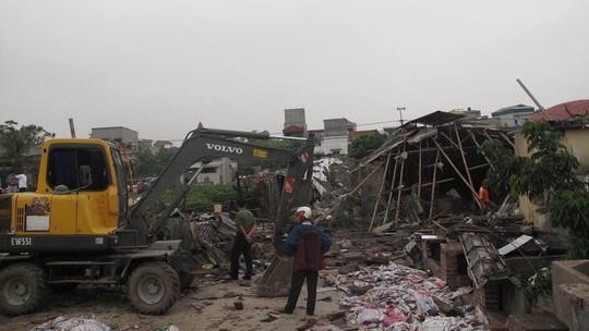 Hiện trường vụ nổ nồi hơi ở Thái Bình