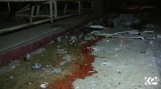Hiện trường vụ đánh bom đám cưới ở TP Hasaka hôm 3-10. Ảnh: Kurdistan24
